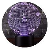 3D Lámpara de Escritorio Mesa 7 cambiar el color botón táctil de escritorio del...