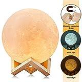 Uten AGM - Mesa con Sensor de luz Nocturna 3D de Luna, Regulable, LED cambiante de...