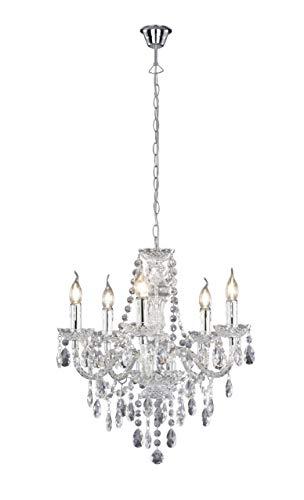 Reality Luster - Lámpara Colgante de 5 luces. Necesarias 5 bombillas E14 de máximo...