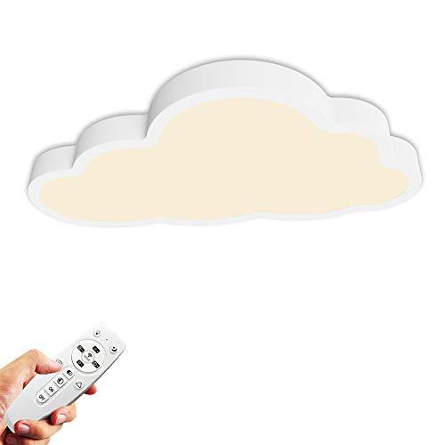 36W Lámpara de techo, Luz de techo LED, Regulable con control remoto, Forma de nube...