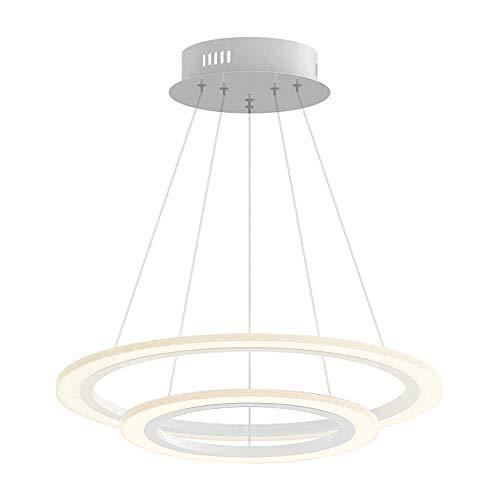 70W LED Tres Anillo Acrílico Moderna Lámpara de Araña Creativa Lámpara Regulable...