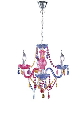 Reality Luster - Lámpara colgante de 3 luces. Necesarias 3 bombillas E14 de máximo...