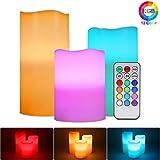 ALED LIGHT Las velas sin llama eléctrica Conjunto, color llevado que cambia la...