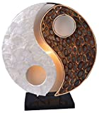 Lámpara decorativa YING YANG, redondo, altura 30 cm, material de la naturalezav