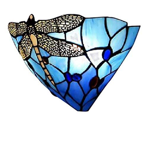 Tiffany aplique de pared E27 Lámpara de pared moderna cabecera cristal de vidrio...