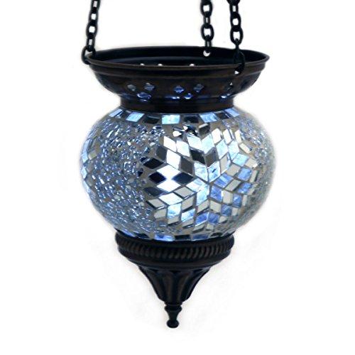 Lámpara colgante con diseño de mosaico Gall & Zick, para exterior, de cristal...