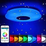 Winbang Luz de techo LED, música inteligente Luces de techo LED RGB Lámpara de...