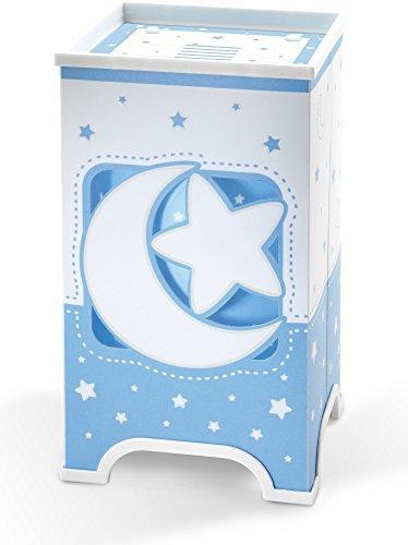 Dalber 63230T Moon and Stars, Lámpara de sobremesa Luna y estrellas azul, bombilla...