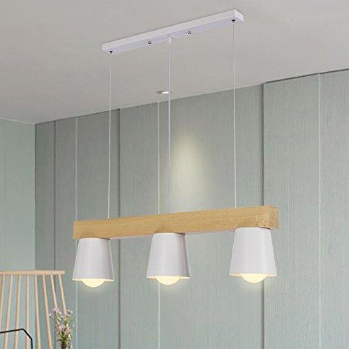 ZTLEUCHTE moderno luces colgantes nórdicas elegante araña de madera Metallo...