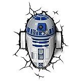 Star Wars FX14233 Lampara 3D de Pared R2 D2, Multicolor, único