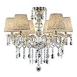 Vingo - Lámpara de techo de 6 focos, clásica, lámpara de techo colgante, lámpara...