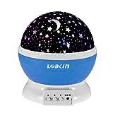 LOBKIN 360 grados de rotación 3 Modo de luz del proyector de la estrella romántica...