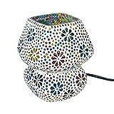 """Lámpara de Mesa Decorativa de Cristal""""Mosaico India-Multicolor"""". Iluminación...."""