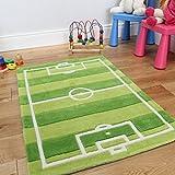 The Rug House Divertido y Durable tapete para niños, con diseño de cancha de...