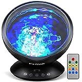 Proyector Ocean Wave, Luz de Noche para Bebé, Lámpara de Proyector LED con Control...