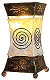 Lámpara decorativa Xenia Cream, lámpara de mesa de metal y Resin, Estado de Ánimo...