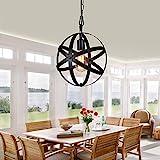 Restaurante candelabro simple hierro forjado industrial estilo retro, lámpara de...