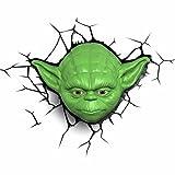 Star Wars RD-RS261007 3DLIGHTFX-Lámpara 3D SW Yoda, Multicolor, único