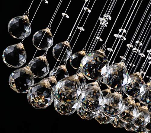 Glighone Lámpara Colgante 3 LED 50W Lámpara de Techo Luz Moderna Cristal Lámpara...