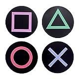 Playstation Metal Posavasos, hojalata, Multicolor, 1x 9x 9cm