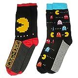 Pacman Y1H417 Pacman, Calcetines Hombre, Negro, Talla 7-11 UK (41-45 EU), pack de 2