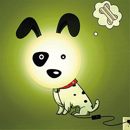Dormitorio de perro luz de noche creativo 3D wallpaper bricolaje pared lámpara de...