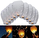 JRing Farolillos Voladores, 10 Piezas Linternas de Papel de Vuelo Chino Lámparas de...