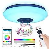 Lámpara De Techo Led Con Altavoz Bluetooth, 36W Moderna Luz De Dormitorio Integrada...