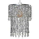 MiniSun - Pantalla de lámpara de techo moderna 'Glitter' - con cascadas de abalorios...