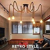Lámpara de techo antiguo que cuelga la iluminación Edison Lámpara de araña de...