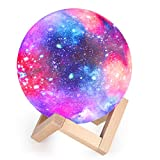 Lámpara de Luna 3D, 16 Colores RGB Luz Nocturna LED con 15cm de Diámetro Control...