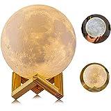 Lámpara de Luna, AGM 2 Colores LED Luz Luna, 15cm Lampara Luna Nocturna Control...