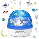 Lámpara Proyector,Iluminación Romántica con Rotación 360 Grados de Estrellas y...