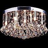 CCLIFE Lámpara Techo de Cristales LED Casquillo G9 x9