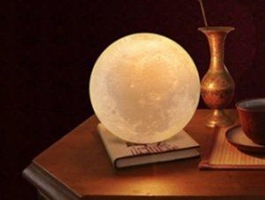 lámapara de luna luz calida led