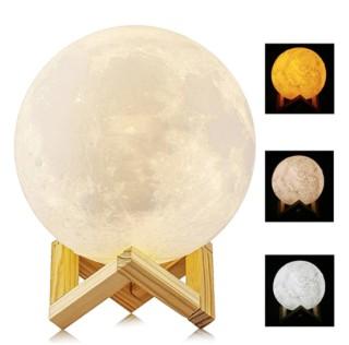 lampara luna 3d 20cm