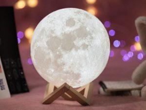lampara luna llena luz fria