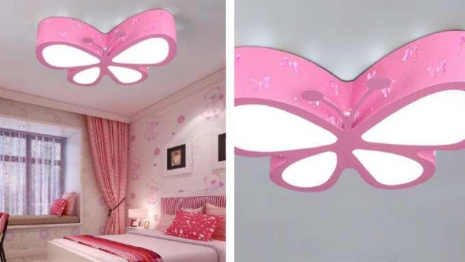 lampara plafon mariposa